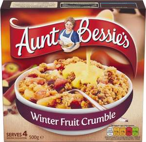 Aunt Bessie's Winter Fruit Crumble (500g) was £1.50 now 2 for £2.00 @ Iceland