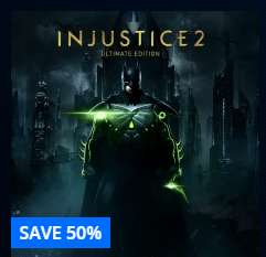 Injustice 2 ultimate edition ps4 was £89.99 now £44.99, half price til 20th September 17 @ playstation store uk