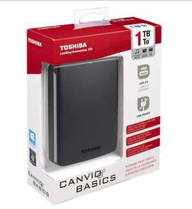 Toshiba 1TB Canvio Basics USB 3.0 Portable External Hard Drive - Black - 1TB - £47.98 includes P&P - 7dayshop