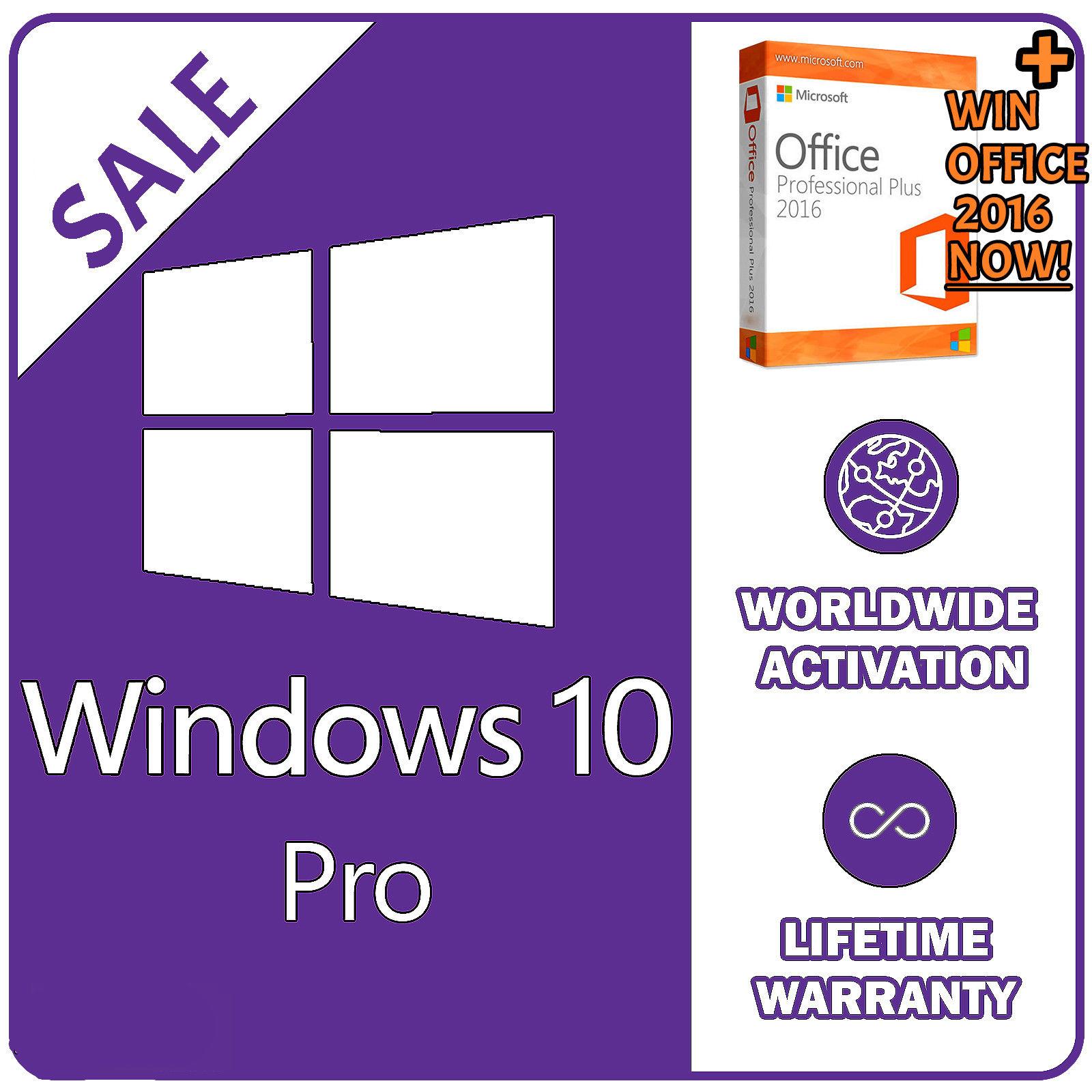 Windows 10 Pro license key 32/64bit £2.20-£2.49 @ Ebay / instant-pc-activation
