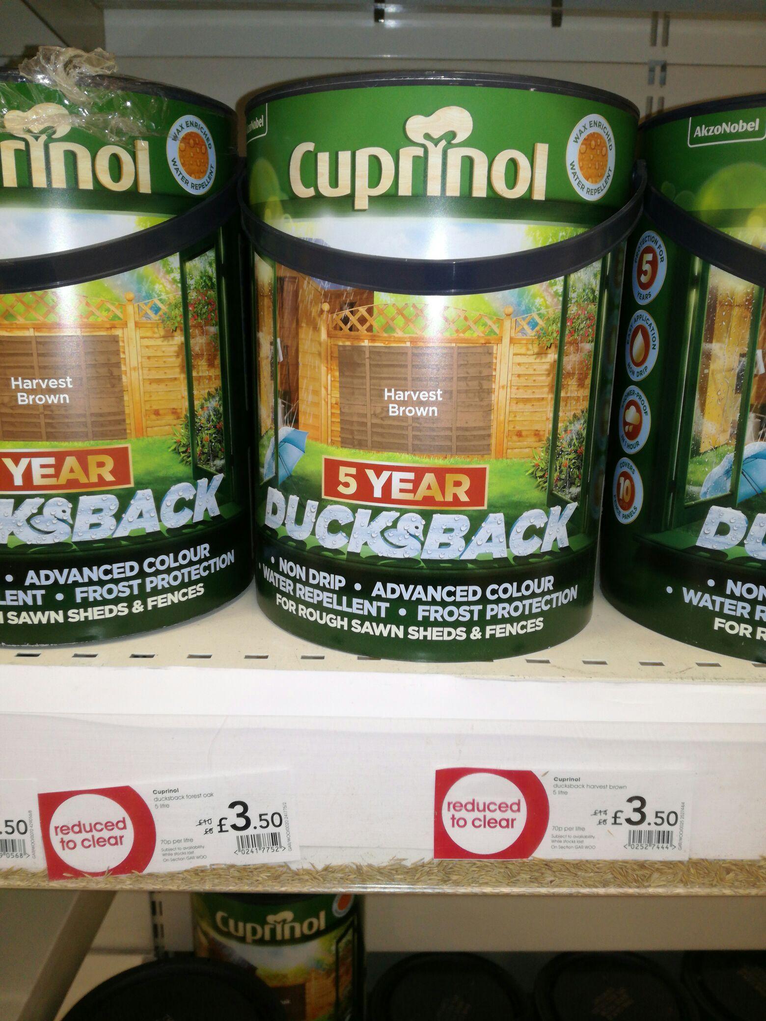 Cuprinol, Ducksback @ Wilko instore for £3.50