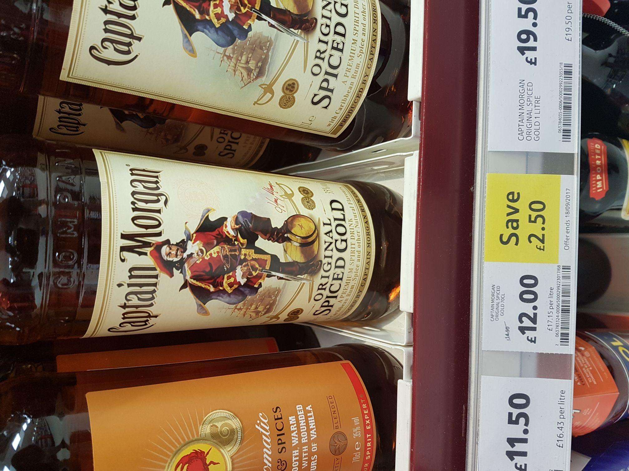 Captain Morgan's Spiced Rum (70cl) £12 at Tesco