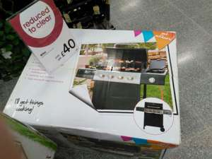 4 gas burner BBQ with side hob  £40 @  Wilkos instore Newbury