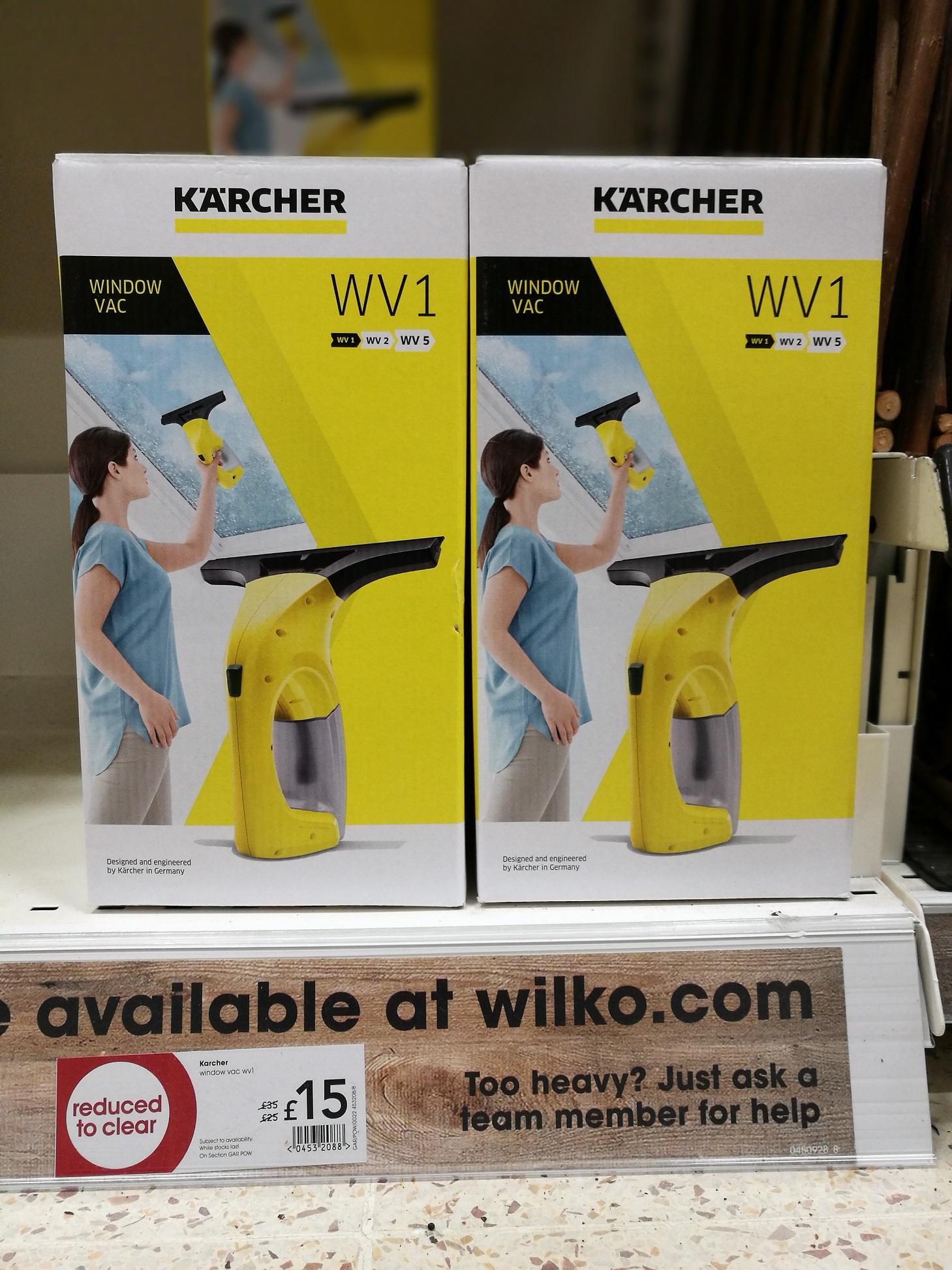 Karcher Window Vac WV1 £15 was £35 @ Wilko Instore