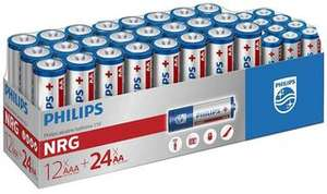Philips 36 pack (24 x AA, 12 x AAA) battery pack was £2.99 now £1.00 @ B&M instore