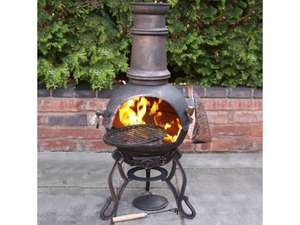 Toledo Medium Bronze Chiminea With BBQ Grill for £47.96 with discount code @ Whitestores
