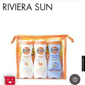 £6.80 Riviera sun lotion and after sun set £6.80 @ The perfume shop