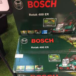 Bosch 400 rotak ER Lawnmower - £123 instore @ B&Q