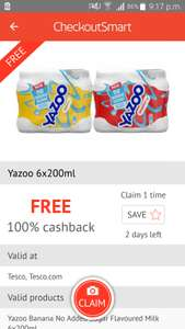 Free Yazoo 6x200ml from Tesco via Checkoutsmart.Update offer extended upto 19th September and available on Clicksnap/Quidco also