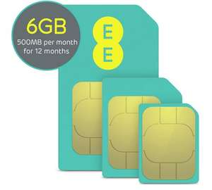EE PAYG sim card 500mb/month for a year @ argos - £4.99 (C&C)