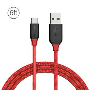 BlitzWolf Ampcore BW-MC5 2.4A 6ft/1.8m Micro USB Braided Data Cable £2.48 @ Banggood