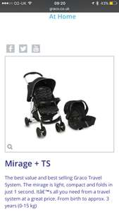 Graco travel system - £37.50 instore @ ASDA (York)
