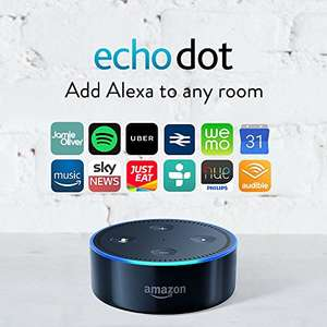 3 echo dots for £109.97 (£36.66 each) @ Amazon (using student 10% and £25 off code)