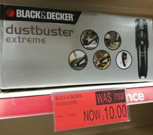 Black & Decker Dustbuster Extreme Vacuum 9.6v in store at B&M CLEARANCE!!! £10