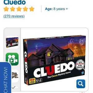 Cluedo Game Half Price £10 The Entertainer