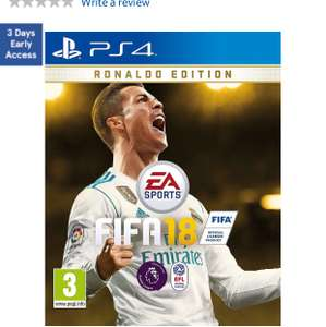 Fifa 18 Ronaldo Edition £64.99 with code @ Tesco direct