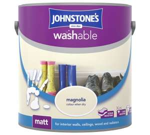 Johnstone's Washable Matt Paint (2.5L) ONLY £13.99 @ Argos