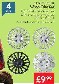 Wheel Trim Set £9.99 - LIDL (Ultimate Speed) - Various Styles and Sizes