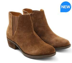 COSTCO KENSIE WOMEN'S SUEDE ANKLE BOOTS IN BROWN/BLACK £28.99 DELIVERED.