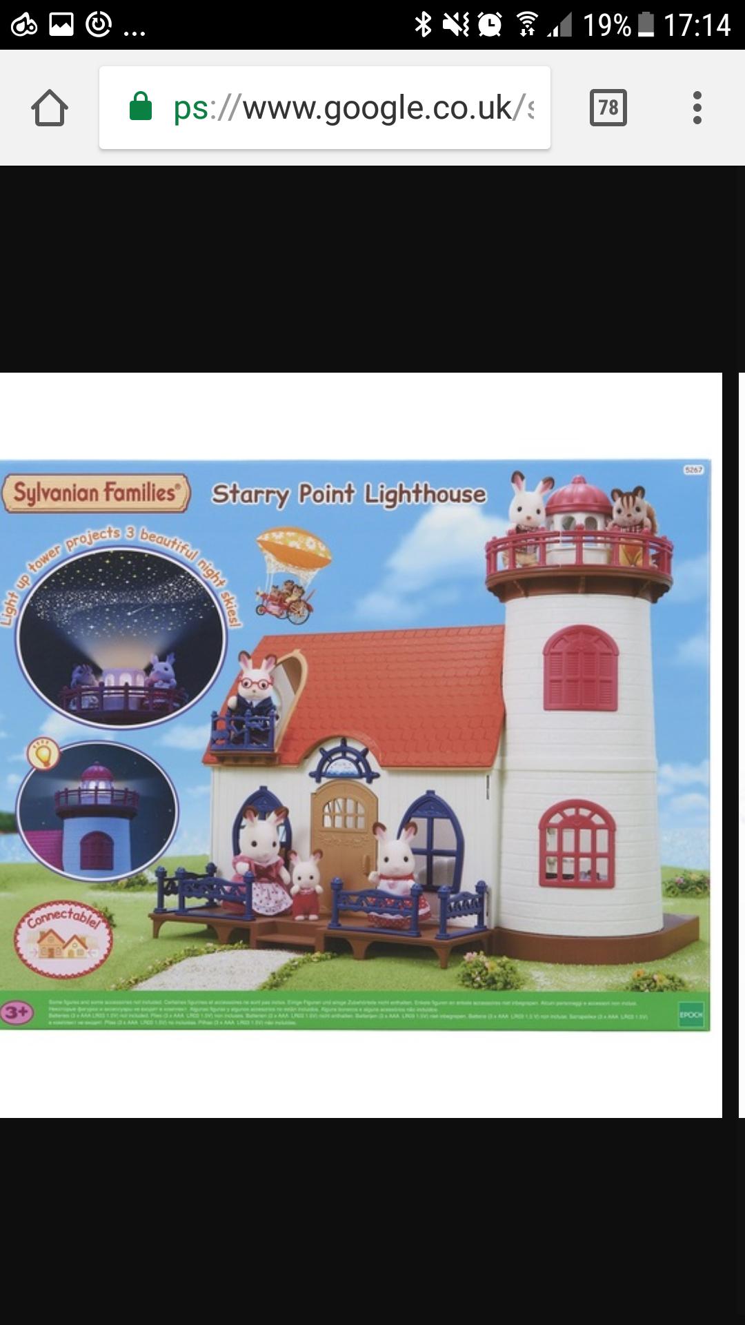 Sylvanian families Starry Point lighthouse £34.99 @ Smyths sale