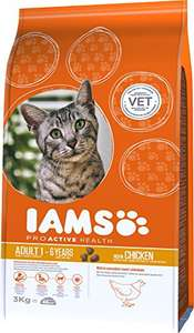 IAMS Adult Cat Food Chicken 3kg £5.99 delivered Amazon Prime exclusive
