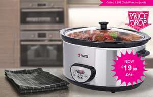 Vivo Mounts Extra Large 6.5 Litre Slow Cooker currently at Wowcher for £19.99 plus delivery @ Wowcher