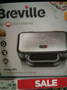 Breville Deep Fill 2 Slice Sandwich Toaster - ASDA Cramlington - reduced to £16.90 (was £26)