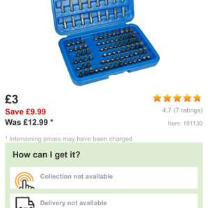 Halfords Drill Bit Set 100 Pieces Metric Imperial AF Size Adapter Holder Case £3 Free C&C @ Halfords Ebay