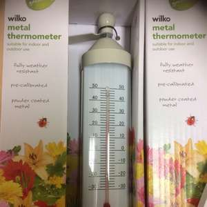 Wilkos metal garden and indoor thermometer - 50p instore Wilko (Shrewsbury)