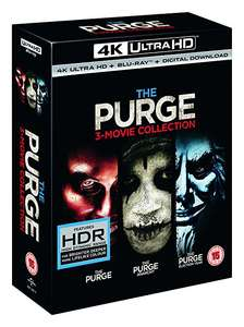 The Purge Trilogy 4K UHD + Bluray + Digital Download - £25 @ Tesco Direct