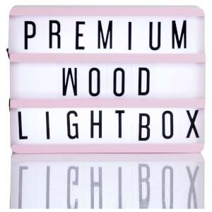 A5 Pink wooden message Lightbox £8.99 (P&P free with orders over £10) @ IWOOT