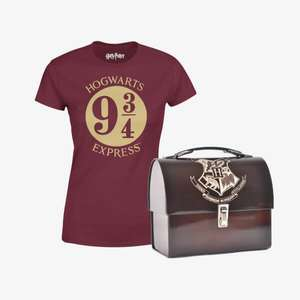 Harry Potter Magical Mega Bundle pre order T shirt and tin £8.99 (Or 2 delivered for £16.18 with code) @ IWOOT