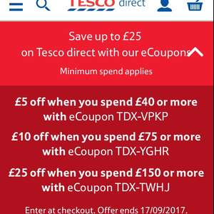 Save up to £25 on Tesco Direct with Tesco Direct eCoupons