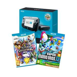 Nintendo Wii U Premium with New Super Mario Bros. U and Super Smash Bros. - £119.99 (Pre-owned) - Game