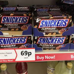 Snickers FlapJacks - 5 pack 69p @ Heron