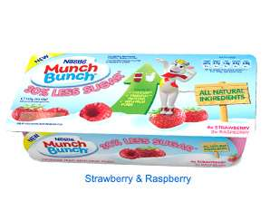 Muller Munch Bunch 6pk 30% less sugar raspberry and strawberry 39p in Heron Hull