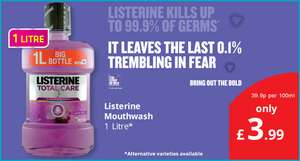 Listerine Antibacterial Mouthwash - Total Care (1L) ONLY £3.99 @ Savers