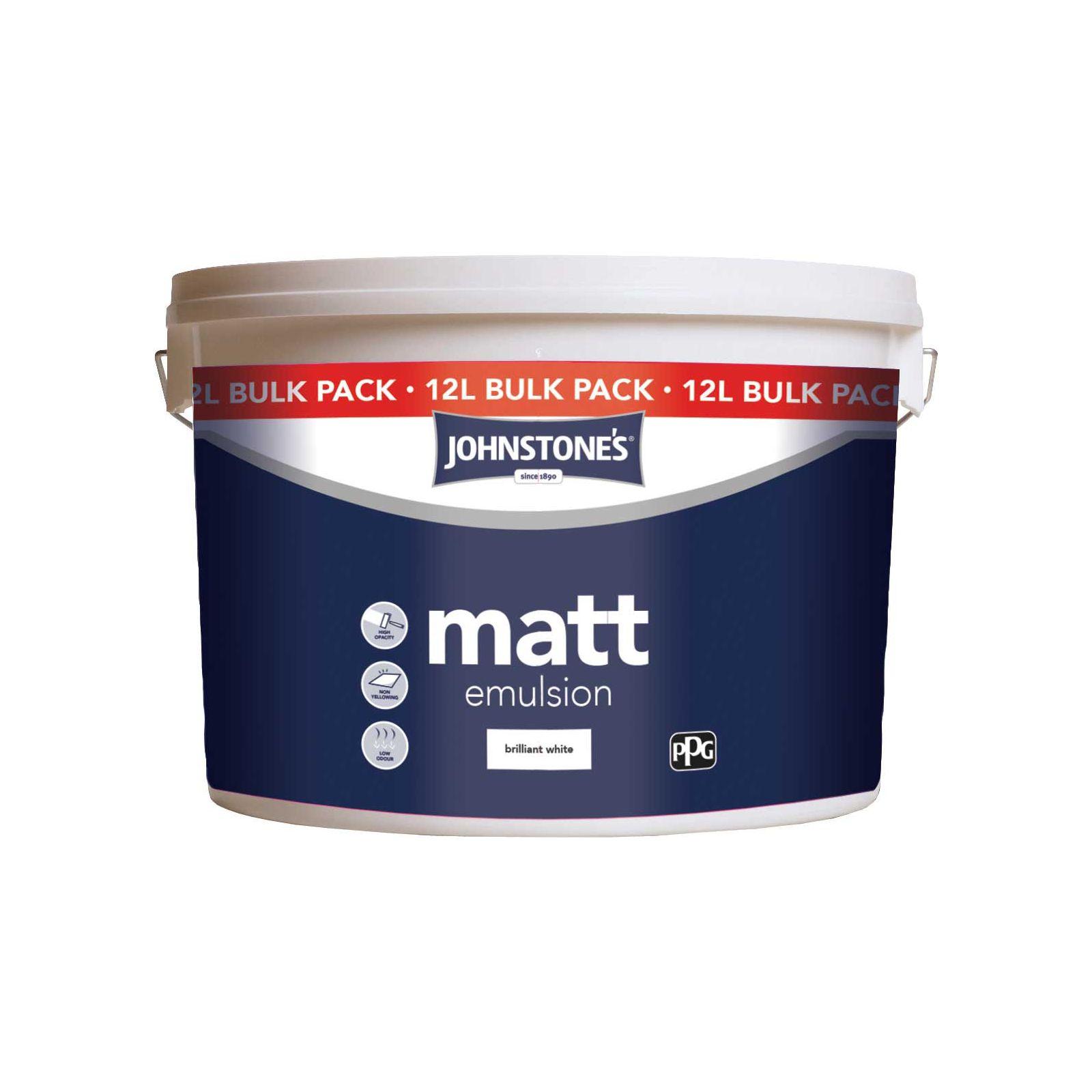Johnstones Brilliant White - Matt Emulsion - 12L - £12 @ Homebase In Store