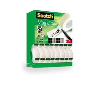 24 rolls Scotch Magic Tape (19 mm x 33 m) £10.49 Amazon Prime