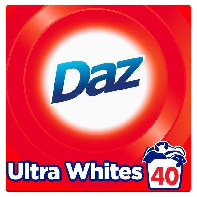 Daz Bio Ultra Whites Washing Powder 40 Wash 2.6kg was £8.00 now £4.00 @ Ocado