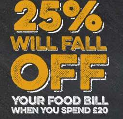 Meals at Marston pubs 25% of £20 spend