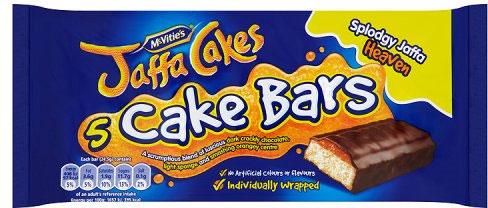 McVities Jaffa Cake Bars 5 Pack Half Price Was £1.40 Now 70p @ Tesco