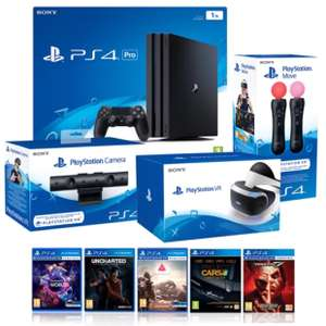 PlayStation VR MEGA BUNDLE with PS4 PRO 1TB, VR Camera, VR Move Controller and 5 Games £799.99 - Costco