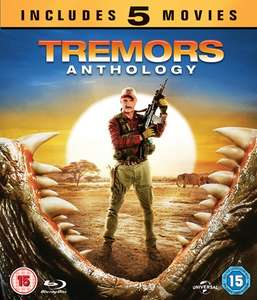 Tremors Anthology 5 Film Blu-Ray Box Set with code SIGNUP10 at Zoom Deal Of The Day