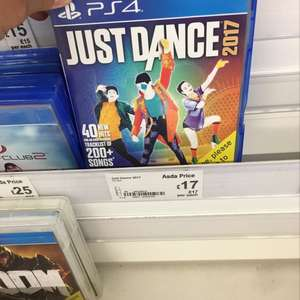 Just dance 2017 PS4 - £17 Asda instore