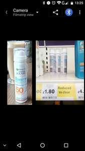 Tesco, Holyhead, ambre solaire only £1.80 should be £15