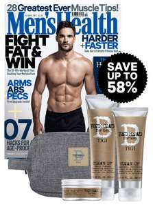 6 issues of Men's Health Magazine for £9.99 + Free Tigi Bed Head Set worth £45