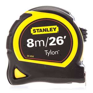 Stanley STA030656 Pocket Tylon Tape, 8 m/26 feet (25 mm)  £3.15 Prime / £7.14 Non Prime @ Amazon