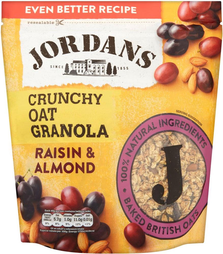 Jordans Crunchy Oat Granola Raisin & Almond (750g) was £2.99 now £1.49 @ Tesco