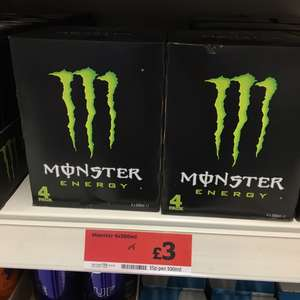 Monster Energy Drink 4 x 500ml for £3 (Sainsbury's Great Homer St Liverpool)
